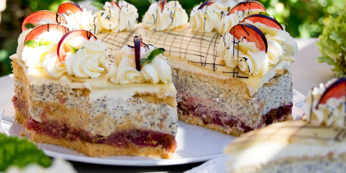 Mohn-Marzipan-Torte - Café Flora