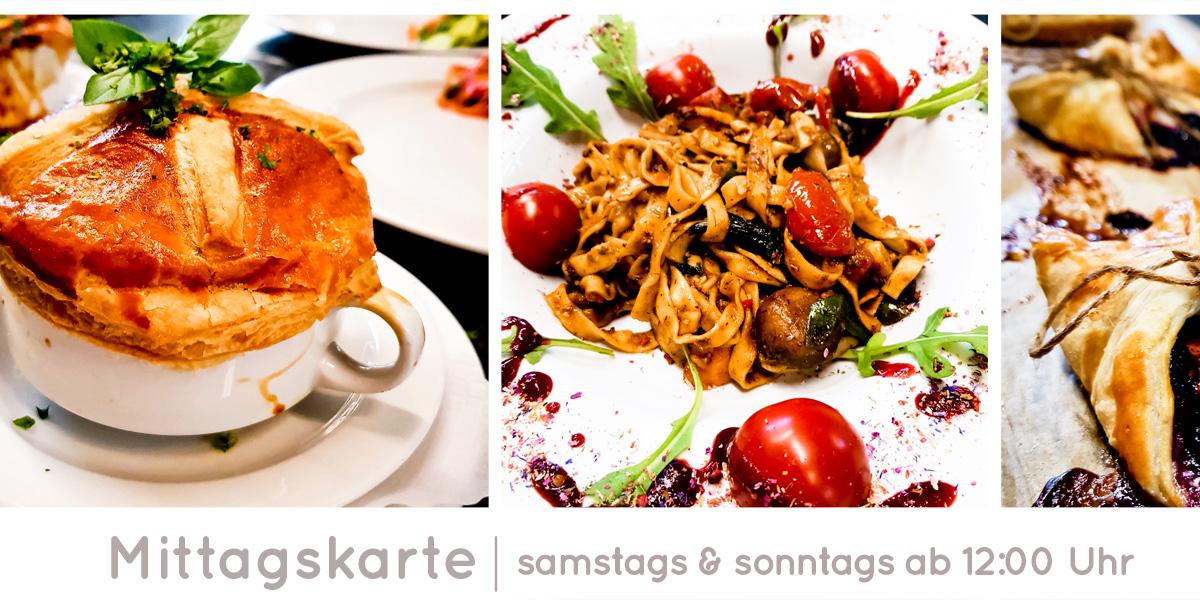 Soufflé, Pasta mit Tomaten, Rucola und Champignons